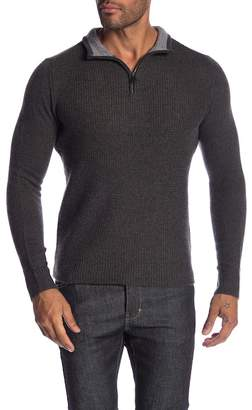 Ben Sherman Micro Quarter Zip Funnel Neck Sweater