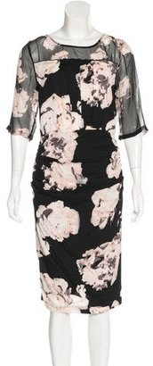 Tracy Reese Printed Ruched Dress w/ Tags $90 thestylecure.com