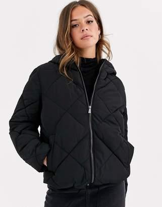 Asos DESIGN puffer made with recycled plastic bottles