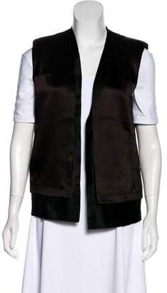 J Brand Collarless Open Front Vest