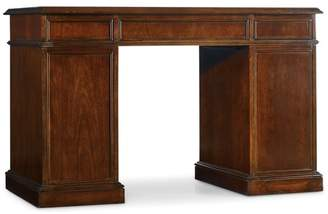 Hooker Furniture Cherry Knee-Hole Desk-Bow Front