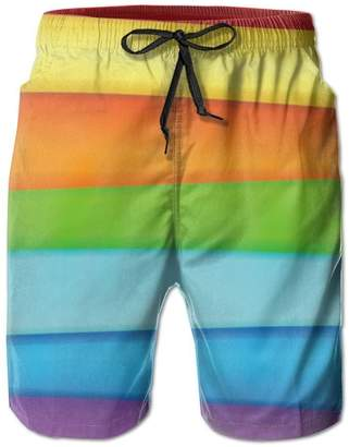09aa822225 Tuklye Men's Neon Stripes Boardshorts Beach Shorts