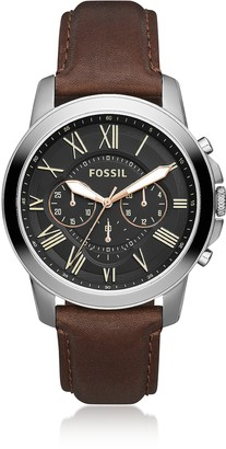 Fossil Grant Chronograph Black/Brown Leather Watch