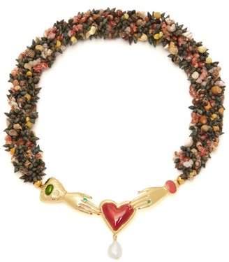 Solange Heimat Atlantica Embellished Shell Necklace - Womens - Multi