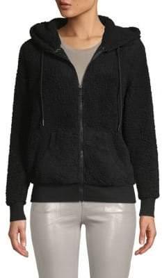 Andrew Marc Hooded Faux Fur & Fleece Teddy Jacket