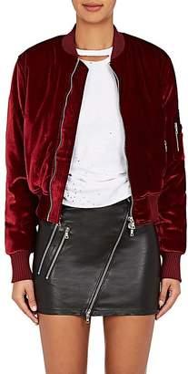 Amiri Women's Velvet Bomber Jacket