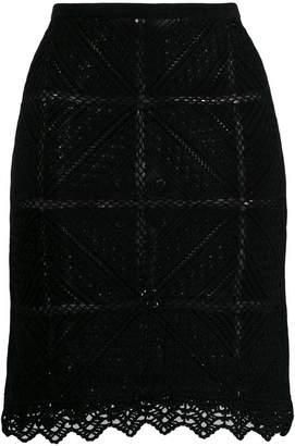 447c9a0f7f Chanel PRE-OWNED 2004's geometric-shaped crochet skirt