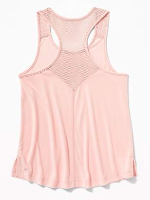 Old Navy Relaxed Go-Dry Cool Mesh-Trim Racerback Tank for Girls