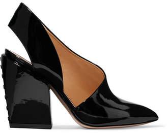 Petar Petrov Siri Patent-leather Slingback Pumps - Black