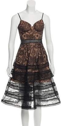Self-Portrait Lace Sleeveless Midi Dress