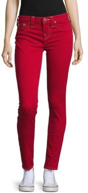Solid Skinny-Fit Cotton-Blend Pants $199 thestylecure.com