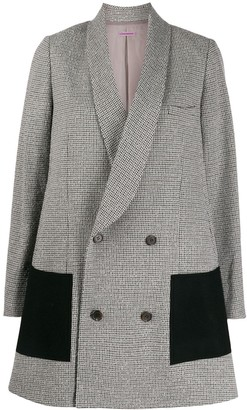 Sueundercover double breasted long blazer