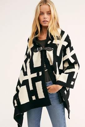 Chamula Cross & Squares Merino Blanket Poncho