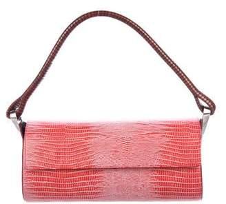 Kenzo Embossed Leather Shoulder Bag