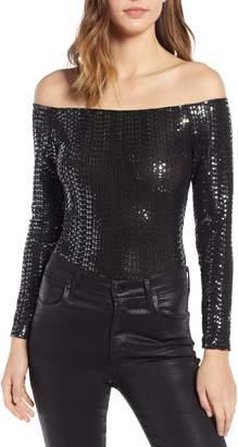 Leith Off the Shoulder Sequin Bodysuit