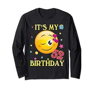 52 Years Old It's My Birthday Emoji Shirt 52nd Birthday