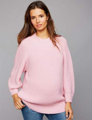Central Park West Mock Neck Maternity Sweater