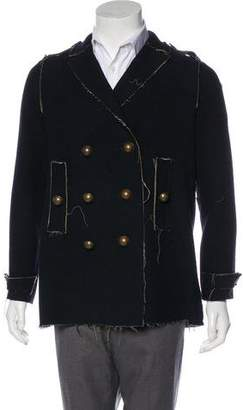 Lanvin Double-Breasted Wool Peacoat