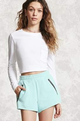 Forever 21 Fleece Zippered Shorts