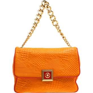 Versace Orange Leather Handbag