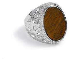 Topman Mens Brown Silver Stone Ring*
