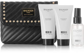 Balmain Paris Hair Couture - Limited Edition Quilted Leather Cosmetics Case Gift Set - Colorless