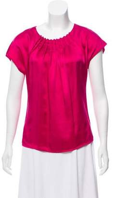 Adam Silk Short Sleeve Blouse