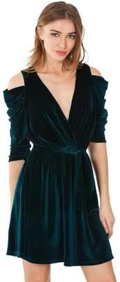 Hale Bob Amata Silk Mini Dress