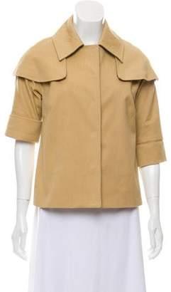 Lela Rose Patterned Short Sleeve Jacket