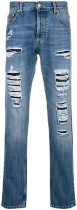 Alexander McQueen distressed denim jeans