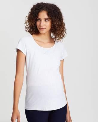 Angel Maternity Maternity 2-Pack Basic Nursing T-Shirt Combo