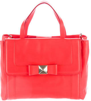 Kate Spade New York Leather Bow-Accent Satchel $125 thestylecure.com