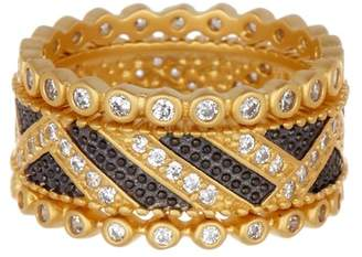 Freida Rothman Textured Ornaments Set of 3 Stacking Rings