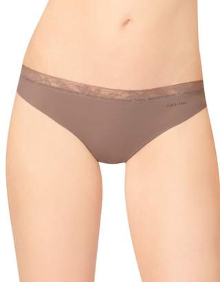 Calvin Klein Women's Perfectly Fit Invisibles with Lace Thong Panty