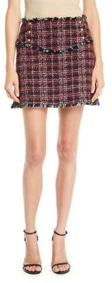 Pinko Tweed Fringe Mini Skirt