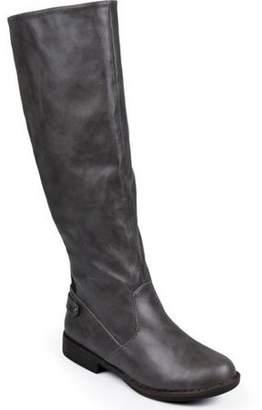 Brinley Co. Women's Wide Calf Stretch Knee-High Riding Boot