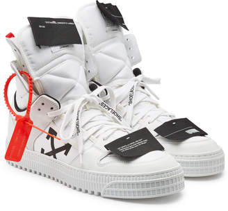 Off-White Leather and Fabric Off Court High Sneakers