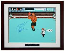 Steiner Sports Mike Tyson Autographed 'Punch Out' Photo Frame