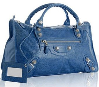 Balenciaga electric blue lambskin large 'Giant Work' bag