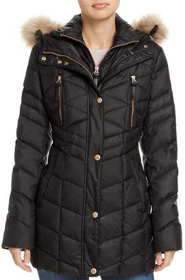 Andrew Marc Marley Faux Fur Trim Puffer Coat