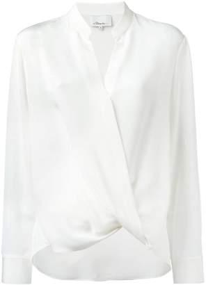3.1 Phillip Lim crossover collarless draped blouse