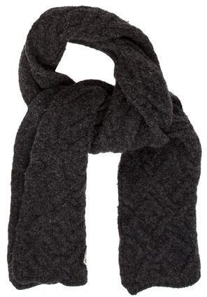 Moncler Moncler Charcoal Cable Knit SCARF