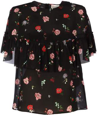 RED Valentino Flowers And Cherries Maxi Sleeves
