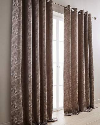 Fashion World Cuba Woven Lined Eyelet Curtains