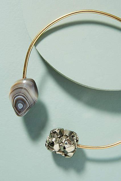 Seraphine Design Golden Pyrite Choker Necklace