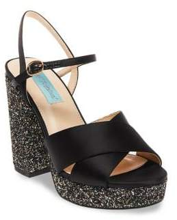 Betsey Johnson Ollie Satin Platform Sandals