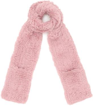 Muche et Muchette Blones Faux Full Fur ポケット ロングマフラー ピンク