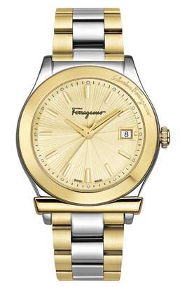 Salvatore Ferragamo 1898 Two-Tone Stainless Steel Bracelet Watch