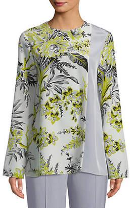 50723a0eec4fe at The Bay · Diane von Furstenberg Long Sleeve Side Slit Silk Blouse