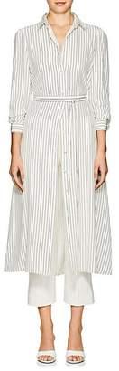 Co Women's Striped Silk Crepe Shirtdress - Ivorybone